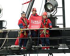 Wellington-Greenpeace protest on Tangaroa, NIWA research vessel
