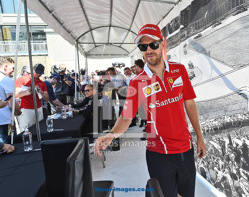 Sebastian Vettel of Scuderia Ferrari during the practice session of the Canadian Formula One Grand Prix at the Circuit Gilles Villeneuve, Montreal<br /> Picture by EXPA Pictures/Focus Images Ltd 07814482222<br /> 09/06/2017<br /> *** UK &amp; IRELAND ONLY ***<br /> <br /> EXPA-EIB-170609-0328.jpg