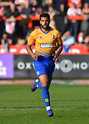 Jacob Mellis (8) of Mansfield Town during the EFL Sky Bet League 2 match between Exeter City and Mansfield Town at St James' Park, Exeter, England on 30 March 2019.