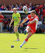 Travis Burns of Hull Kingston Rovers kicks the extra 2 points during the First Utility Super League match at the KC Lightstream Stadium, Kingston upon Hull<br /> Picture by Richard Gould/Focus Images Ltd +44 7855 403186<br /> 25/05/2014