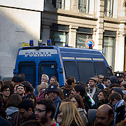 Italian Police during the Indignados demonstration in Milan