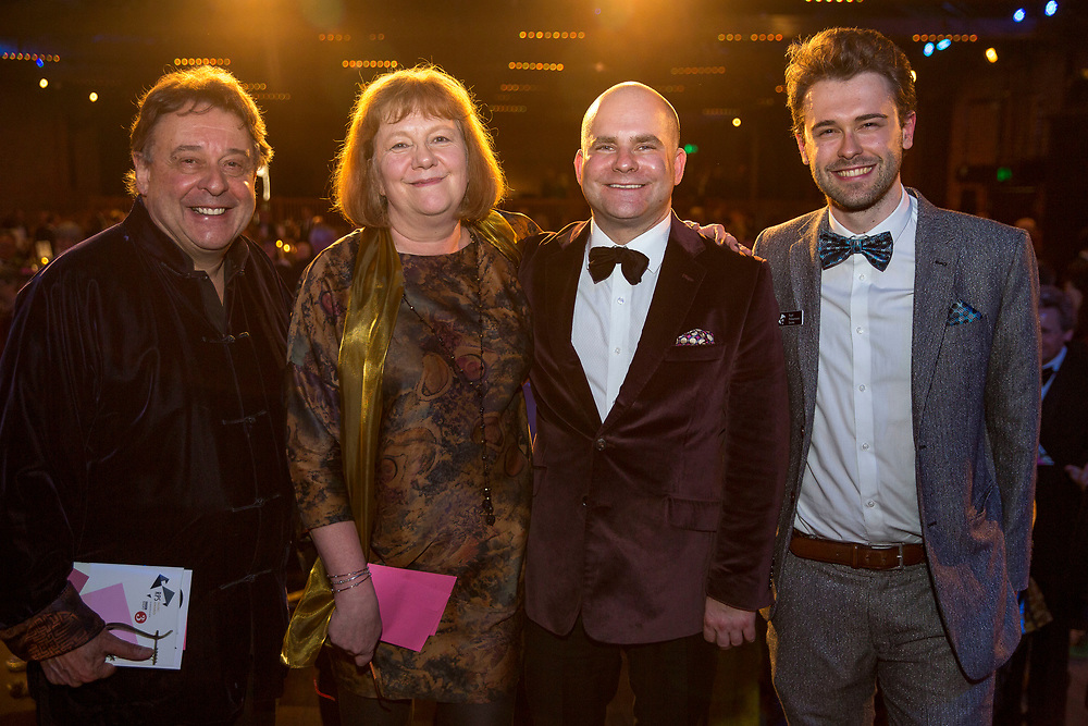 Graham Sheffield, Rosemary Johnson, John Gilhooly, Robin Sheffield photographed at<br /> the Royal Philharmonic Society Music Awards, Wednesday 9 May
