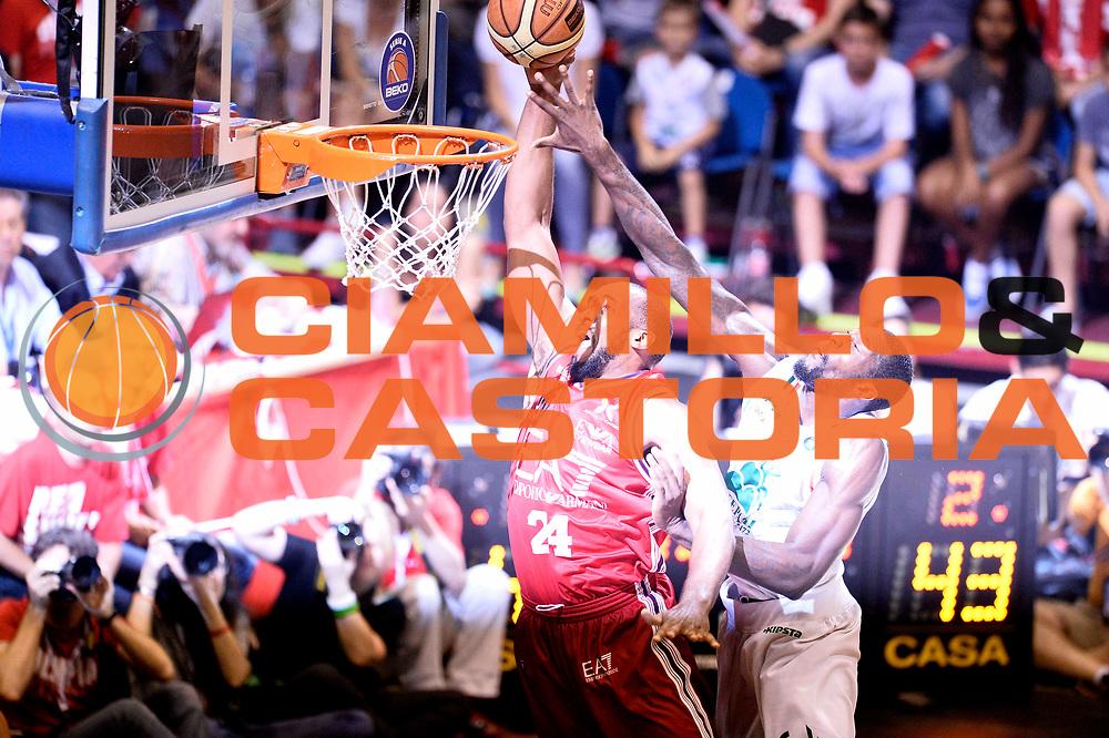 DESCRIZIONE : Campionato 2013/14 Finale Gara 7 Olimpia EA7 Emporio Armani Milano - Montepaschi Mens Sana Siena Scudetto<br /> GIOCATORE : Samardo Samuels<br /> CATEGORIA : Schiacciata Curiosita<br /> SQUADRA : Olimpia EA7 Emporio Armani Milano<br /> EVENTO : LegaBasket Serie A Beko Playoff 2013/2014<br /> GARA : Olimpia EA7 Emporio Armani Milano - Montepaschi Mens Sana Siena<br /> DATA : 27/06/2014<br /> SPORT : Pallacanestro <br /> AUTORE : Agenzia Ciamillo-Castoria /GiulioCiamillo<br /> Galleria : LegaBasket Serie A Beko Playoff 2013/2014<br /> FOTONOTIZIA : Campionato 2013/14 Finale GARA 7 Olimpia EA7 Emporio Armani Milano - Montepaschi Mens Sana Siena<br /> Predefinita :