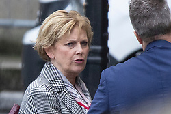 © Licensed to London News Pictures. 16/10/2019. London, UK. Leader of The Independent Group Anna Soubry talks to a colleague in The Houses of Parliament.  Photo credit: George Cracknell Wright/LNP
