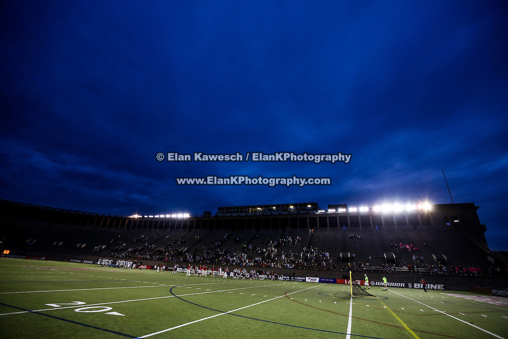 A general view of the field during the game at Harvard Stadium on July 19, 2014 in Boston, Massachusetts. (Photo by Elan Kawesch)