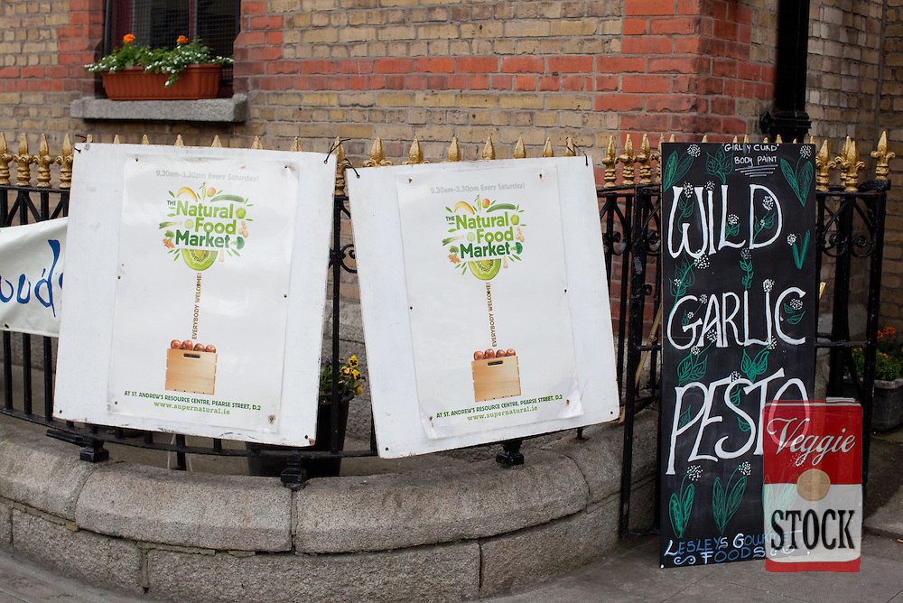 May 2011. Super Natural Food Market, Pearce Street, Dublin, Ireland. Copyright: Megan Young / Veggies and Me
