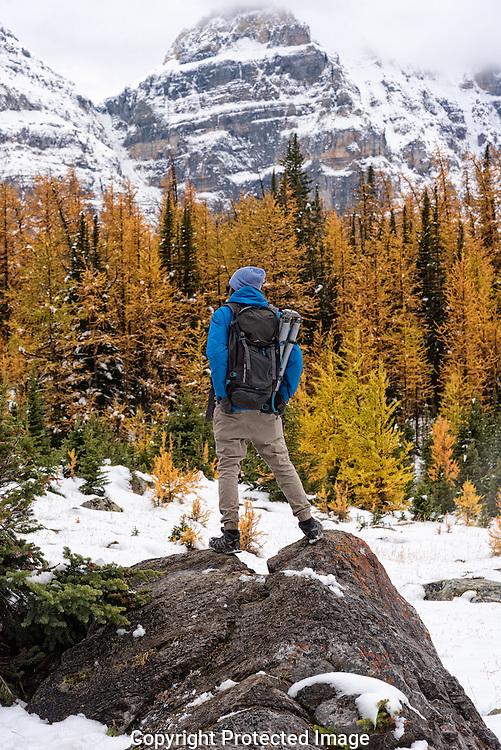 Ankit Pal at Larch Valley., Alberta, Canada, Isobel Springett