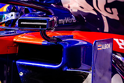 February 28, 2019 - Montmelo, BARCELONA, Spain - Alexander Albon from Thailand 23 Scuderia Toro Rosso Honda aerodinamic detail of mirror during the Formula 1 2019 Pre-Season Tests at Circuit de Barcelona - Catalunya in Montmelo, Spain on February 28. (Credit Image: © AFP7 via ZUMA Wire)