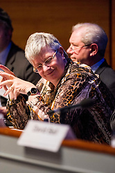 Pictured: Jo Shaw<br /> <br /> The Institute and Faculty of Actuaries hosted a flagship European Union referendum debate for around 250 delegates in Edinburgh tonight. Speakers at the event were Matthew Anderson, member of the Advisory Board - Britain Stronger in Europe, Jim Sillars, former deputy leader of the SNP, Jo Shaw, Salvesen Chair of European Institutions, Nigel Griffiths, Labour Leave Scotland and former deputy leader of the House of Commons Nigel Griffiths and  David Bell, Professor of Economics, University of Stirling.<br /> Ger Harley | EEm 5 April 2016