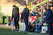 Forest Green Rovers assistant manager, Scott Lindsey and Forest Green Rovers manager, Mark Cooper during the EFL Sky Bet League 2 match between Forest Green Rovers and Cheltenham Town at the New Lawn, Forest Green, United Kingdom on 25 November 2017. Photo by Shane Healey.