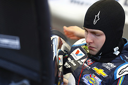 March 2, 2018 - Las Vegas, Nevada, United States of America - March 02, 2018 - Las Vegas, Nevada, USA: William Byron (24) straps into his car to practice for the Pennzoil 400 at Las Vegas Motor Speedway in Las Vegas, Nevada. (Credit Image: © Chris Owens Asp Inc/ASP via ZUMA Wire)