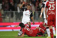 FOOTBALL - FRENCH CHAMPIONSHIP 2010/2011 - L1 - VALENCIENNES v LENS - 18/09/2010 - PHOTO ERIC BRETAGNON / DPPI - EDUARDO (LENS) / MILAN BISEVAC (VA)