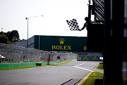March 17, 2019 - Melbourne, Australia - Motorsports: FIA Formula One World Championship 2019, Grand Prix of Australia, ..Finish flag, Zielflagge  (Credit Image: © Hoch Zwei via ZUMA Wire)