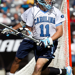 Game action: Virginia vs. North Carolina Lacrosse