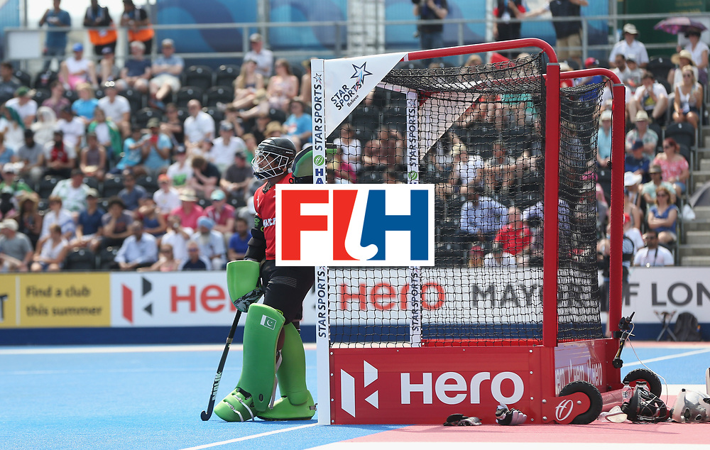 during the Hero Hockey World League Semi-Final match between Pakistan and India at Lee Valley Hockey and Tennis Centre on June 18, 2017 in London, England.