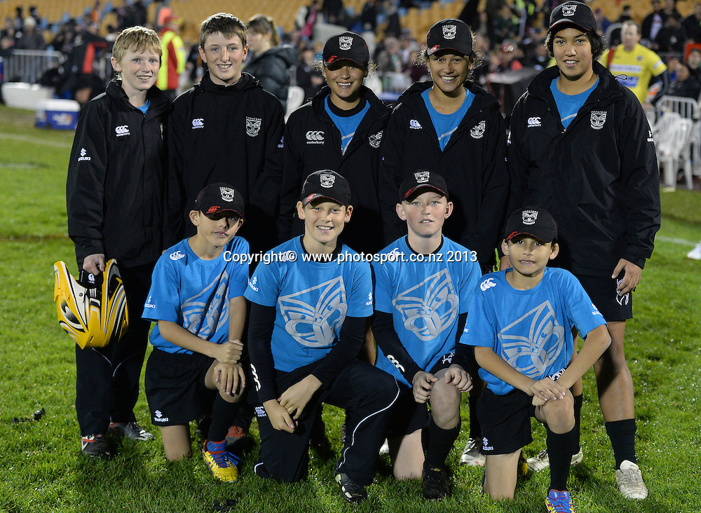 Ball Boys. NRL Rugby League match, Vodafone Warriors v Manly Sea Eagles at Mt Smart Stadium, Auckland, New Zealand on Sunday 9 June 2013. Photo: Andrew Cornaga/Photosport.co.nz