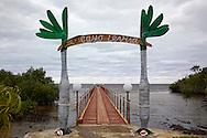 Pier at for the boat to Cayo Levisa, Palma Rubia area, Pinar del Rio, Cuba.