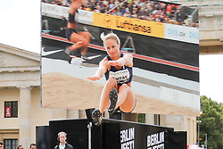 "05.09.2015, Brandenburger Tor, Berlin, GER, Leichtathletik Meeting, Berlin fliegt, im Bild Diane Barras (FRA) // during the Athletics Meeting ""Berlin flies"" at the Brandenburger Tor in Berlin, Germany on 2015/09/05. EXPA Pictures © 2015, PhotoCredit: EXPA/ Eibner-Pressefoto/ Eibner-Pressefoto<br /> <br /> *****ATTENTION - OUT of GER*****"