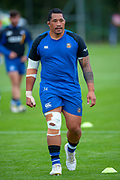 Anthony Perenise of Bath Rugby before the Rugby Friendly match between Edinburgh Rugby and Bath Rugby at Meggetland Sports Complex, Edinburgh, Scotland on 17 August 2018.