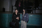 Gillian Wearing and Maureen Paley. Frieze Party Berlin. Stadtbad, Oderberger Strasse 57-59, Oderberger Strasse. Berlin. 23 March 2006. ONE TIME USE ONLY - DO NOT ARCHIVE  © Copyright Photograph by Dafydd Jones 66 Stockwell Park Rd. London SW9 0DA Tel 020 7733 0108 www.dafjones.com
