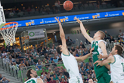 Basketball match between KK Union Olimpija and KK Krka in 4nd Final match of Telemach Slovenian Champion League 2011/12, on May 24, 2012 in Arena Stozice, Ljubljana, Slovenia. Krka defeated Union Olimpija 65-55. (Photo by Grega Valancic / Sportida.com)