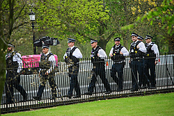 © London News Pictures. 22/04/2016. London, UK. Heightened security surrounding the residence of the US Ambassador to the United Kingdom in Regents Park, London, where the President of the United States Barak Obama is staying during his visit to the UK. Photo credit: Ben Cawthra/LNP