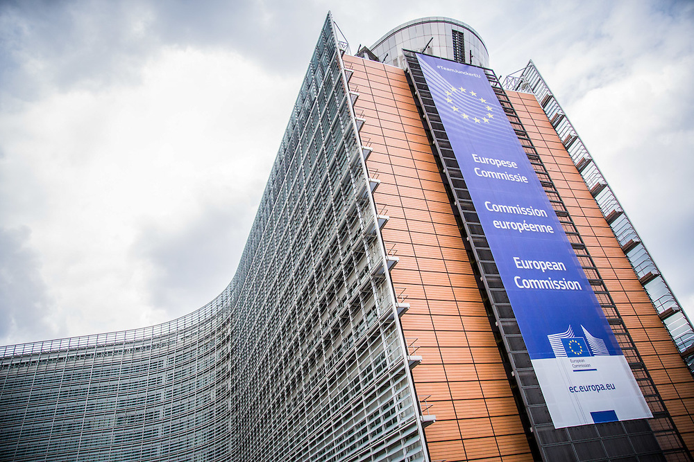 Illustration picture shows the Berlaymont building of the European Commission in Brussels, Belgium.