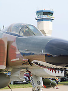 An F-4 Phantom parked at the EAA Airventures airshow, Oshkosh, Wisconsin.