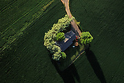Aerial image of a single family home near Seattle, Washington, Pacific Northwest