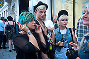 DOROTKA HANULA; MIGUEL DARE; KASIA HANULA, The VICE Photo Exhibition 2009 - private view of an exhibition of work originally published in Vice magazine.. <br /> The Print Space, 74 Kingsland Road, London E2. 12 August 2009