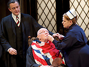 Forty Years On <br /> by Alan Bennett <br /> at Festival Theatre Chichester , Great Britain <br /> press photocall <br /> 25th April 2017 <br /> <br /> Richard Wilson as Headmaster <br /> <br /> Alan Cox as Franklin <br /> <br /> <br /> Jenny Galloway as Matron <br /> <br /> <br /> <br /> Photograph by Elliott Franks <br /> Image licensed to Elliott Franks Photography Services