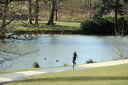 © Licensed to London News Pictures. 06/03/2015<br /> Sunny Kent weather today (06.03.2015) at Dunorlan Park,Royal Tunbridge Wells,Kent.  Temperatures are set to rise for the weekend.<br /> (Byline:Grant Falvey/LNP)