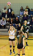 PERKASIE, PA - OCTOBER 23: Pennridge's Kelly Bergen #1 lines up a volley during a district one playoff volleyball game against Upper Dublin at Pennridge October 23, 2014 Perkasie, Pennsylvania. (Photo by William Thomas Cain/Cain Images)