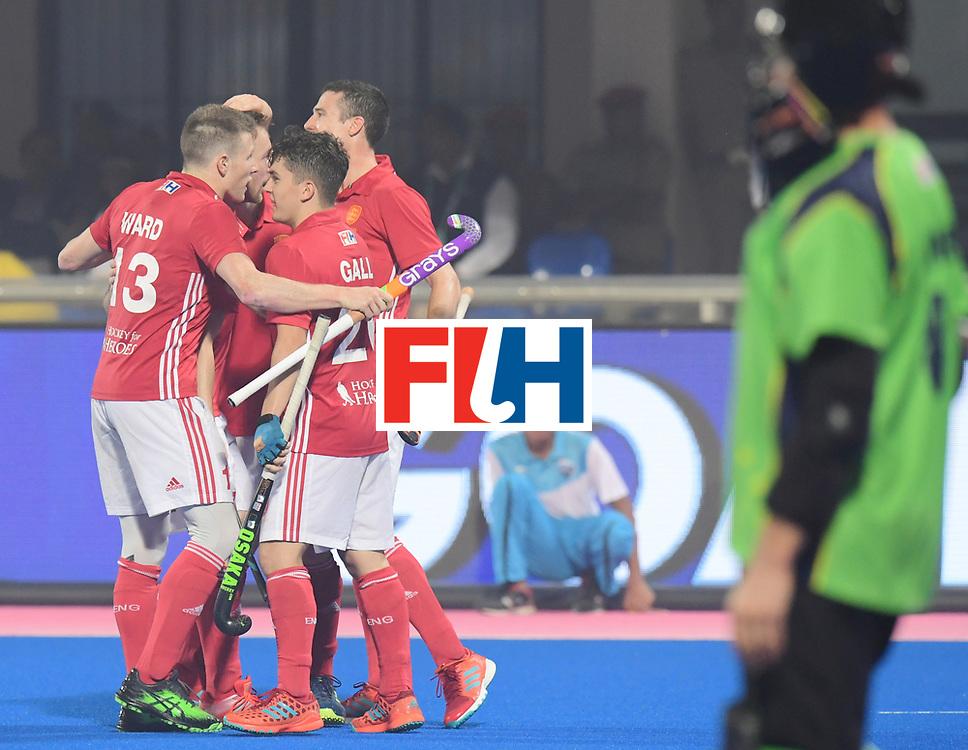 Odisha Men's Hockey World League Final Bhubaneswar 2017<br /> Match id:09<br /> Australia v England<br /> Foto: England scored a goal<br /> Sam Ward (Eng)<br /> WORLDSPORTPICS COPYRIGHT FRANK UIJLENBROEK