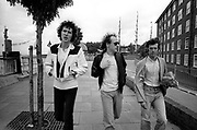 Dire Straits Mark Knopfler and band at Wood Wharf studios 1981