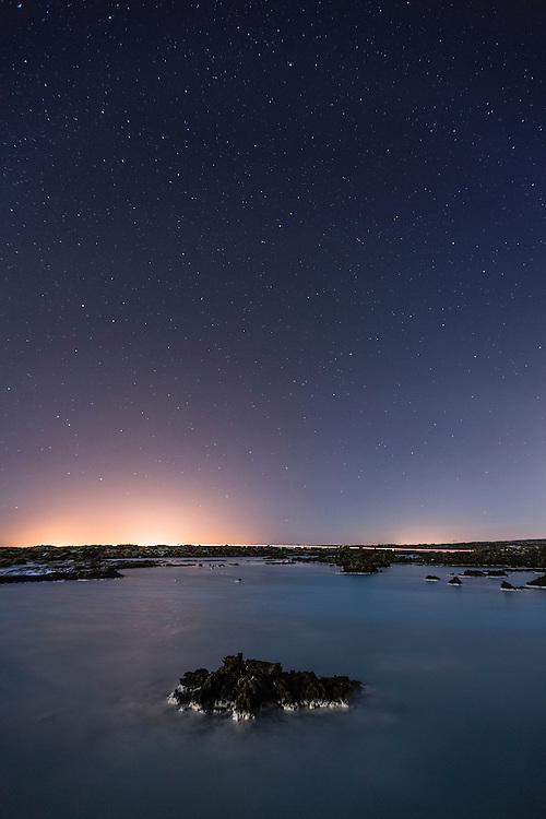 Nightsky over Blue Lagoon, Iceland