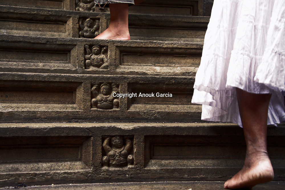 Temple stairs and foot. Kandy.