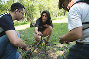 Lindsay Cray teaches the Intro to Wilderness Survival workshop at the Adirondack Mountain Club's Outdoor Expo at Mendon Ponds Park on Saturday, June 11, 2016.