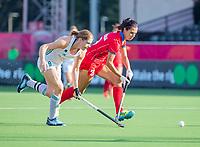 ANTWERPEN -  Ireland-Russia (3-2) . Belfius Eurohockey Championship (women) hockey.Kathryn Mullan (Irl) with Evgeniia Sorokina (Rus)   WSP/ KOEN SUYK