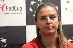 February 6, 2019 - Liege, BELGIQUE - LIEGE, BELGIUM - FEBRUARY 6 :   Kirsten Flipkens pictured during a press conference of Belgium prior to the Fed Cup World Group 1st Round meeting between Belgium and France on February 06, 2019 in Liege, Belgium, 6/02/2019 (Credit Image: © Panoramic via ZUMA Press)