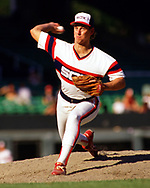 CHICAGO - 1986:  Bobby Thigpen of the Chicago White Sox pitches during an MLB game at Comiskey Park in Chicago, Illinois during the 1986 season . (Photo by Ron Vesely)  Subject:   Bobby Thigpen