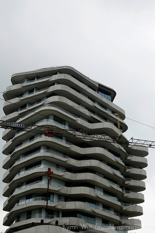 Europe, Germany, Hamburg. Architecture of Hamburg: Marco Polo Residential Tower.