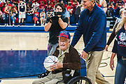 Gordon Van Scotter honored at Nov. 10 men's basketball game. (GU photo by Gavin Doremus)