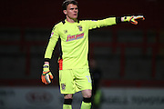 Stevenage goalkeeper Callum Preston (12) during the EFL Trophy match between Stevenage and Brighton and Hove Albion at the Lamex Stadium, Stevenage, England on 4 October 2016.