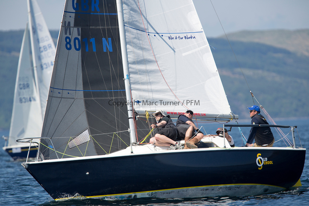 Silvers Marine Scottish Series 2017<br /> Tarbert Loch Fyne - Sailing<br /> <br /> GBR8011N, Old School, MacNish/Galbraith/Chas, RGYC