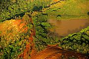 Aerial image of the backcountry in Kauai, Hawaii, Hawaiian Islands, America West