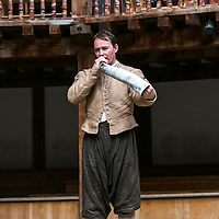 As You Like It by William Shakespeare;<br /> Directed by Blanche McIntyre;<br /> Hornblower;<br /> Shakespeare's Globe, London, UK;<br /> 19 May 2015;<br /> © Pete Jones