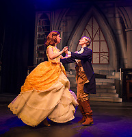 Belle -Teghan Marie Kelly dances with the Prince of her dreams -Hannah Halischak during dress rehearsal for the Traditional English Panto of Beauty and the Beast with the Winnipesaukee Playhouse.  (Karen Bobotas/for the Laconia Daily Sun)