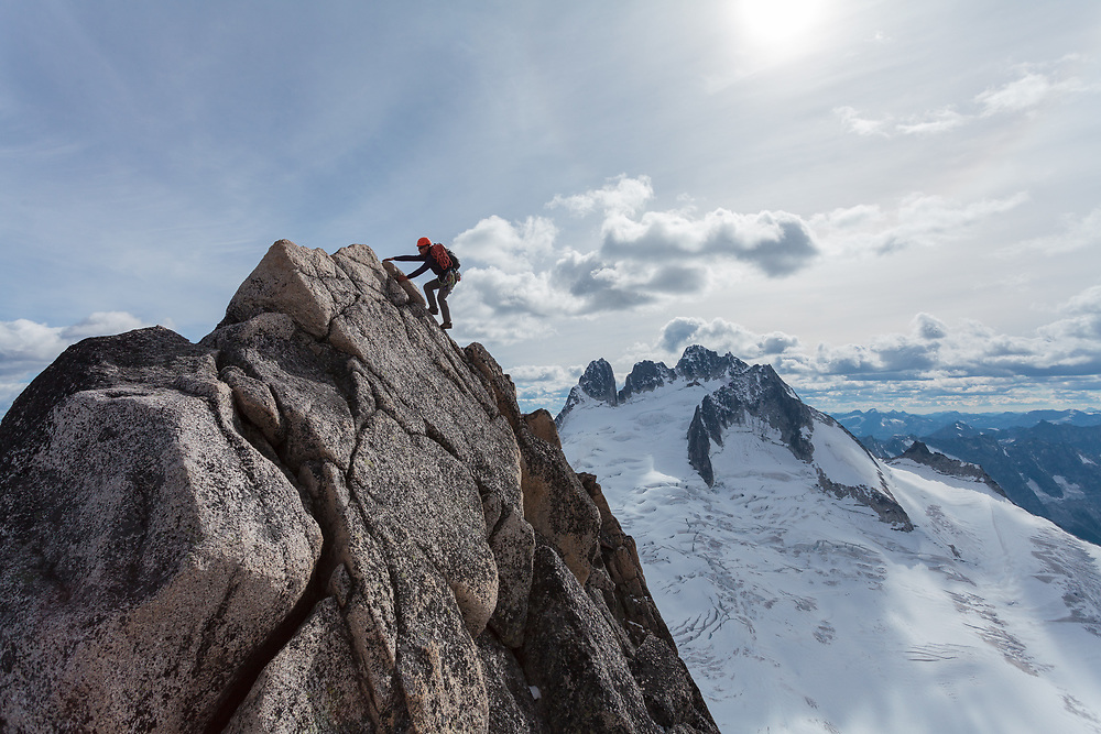 Alpine Climbing on the Kain Route on Bugaboo Spire - Bugaboos