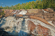 The Sand River flows over teh Sand River Falls and empties into Lake Superior<br />Lake Superior Provincial Park<br />Ontario<br />Canada